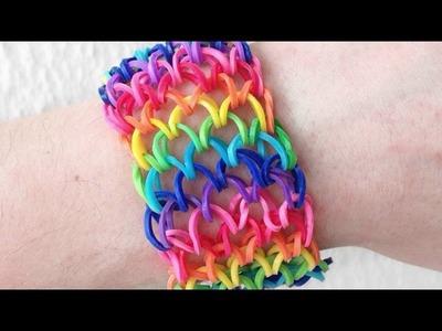 Como fazer pulseira de elástico: Escama de Dragão (Dragon Scale) #LoomBands (sem tear)