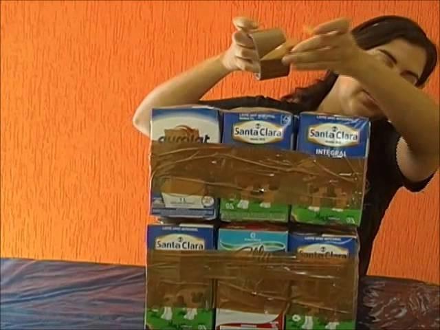 Como fazer um puff com caixa de leite (Tetra pak)!