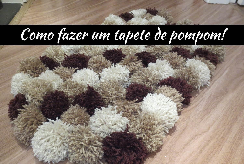 Como fazer um tapete de pompom