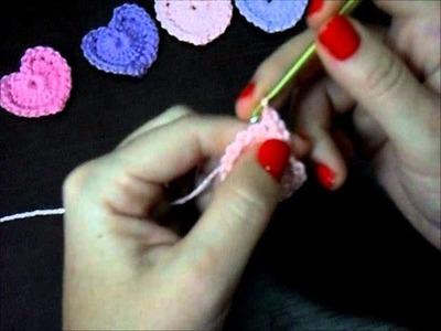Coração em crochê ( Professora Simone )