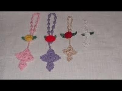 Crochê Cruz para Terços muito facil - Ganchillo cruz rosario - Cross crochet