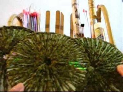 Crochê Tradicional - Bolsa de CDs Estruturada - Parte 08