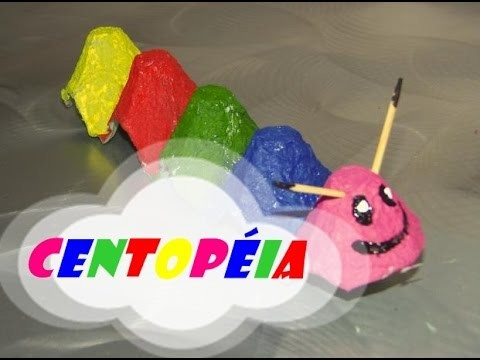 DIY.: Centopéia - Arte p.crianças - Craft Kids