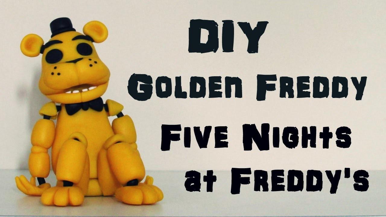 DIY: Como Fazer o Golden Freddy - Urso Amarelo de FIVE NIGHTS at FREDDY'S - FNAF