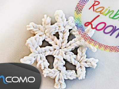 Floco de Neve - Rainbow Loom