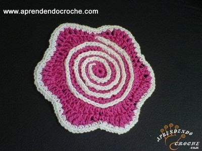 Flor Hipnose em Crochê