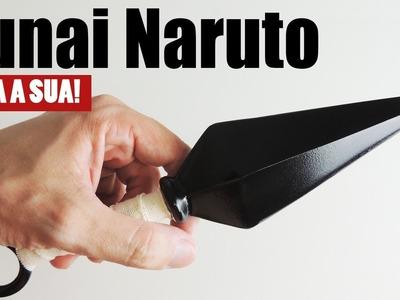Kunai do Naruto: Faça a sua!