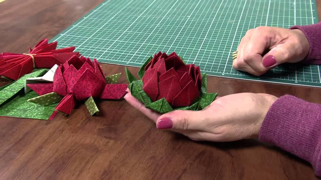 Mulher.com 28.06.2013 Claudia Niero - Origami em tecido Parte 2.2