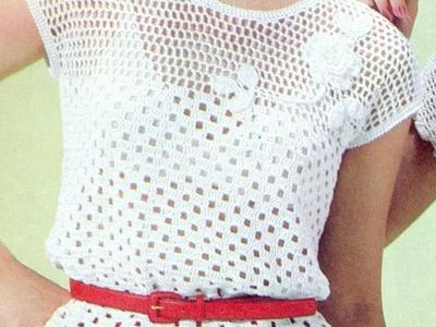 Patrón Para Tejer Blusa Calada Con flores a Crochet