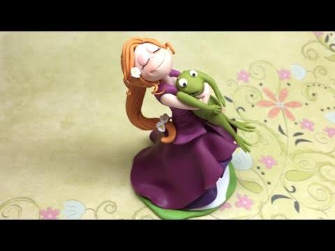 Princess and the frog.Princesa e o sapo- Polymer clay (Fimo)