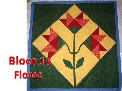 Projeto Patchwork - Bloco 13 - Bloco Flores