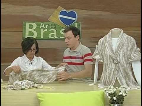 ARTE BRASIL -- CLAUDIA MARIA -- CASAQUETO TARANTELA EM TRICÔ (29.09.2010 - Parte 1 de 2)