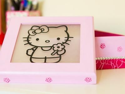 Artesanato Com Craquelê em Mdf ✿ Caixinha Hello Kitty ✿