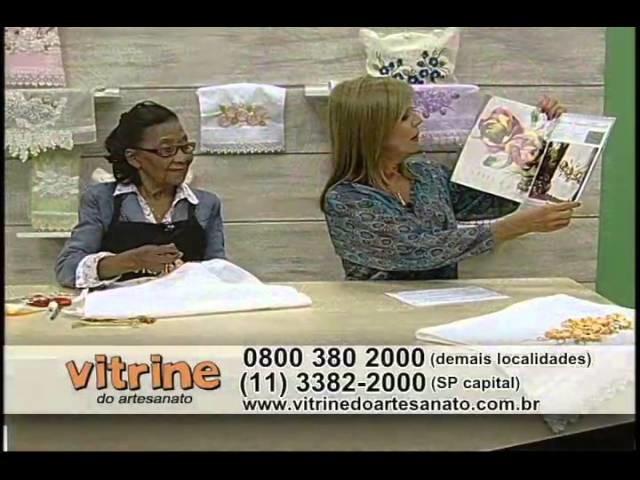 Bordado Floral com Enedina Barbosa - Vitrine do Artesanato na TV