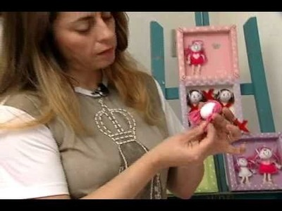 Chaveiro bonequinha - Artesanato Manhã Viva