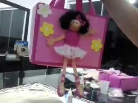 Como fazer Bolsa Bailarina em EVA para embalagem ou lembrancinha