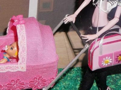 Como fazer bolsa de bebê para boneca Monster High, Barbie, MLP, EAH, etc