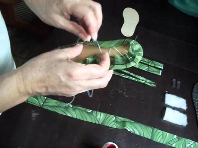 Como fazer um chinelo rasteirinha ?