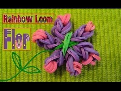 Como Fazer uma Flor. Anel de Elástico:  RAINBOW LOOM BANDS | Tutorial Laissa