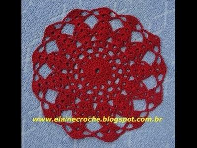 CROCHE - TOALHINHA IRIS EM CROCHE