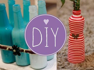 DIY: Decorando o quarto ou a sala com garrafas (faça você mesma)