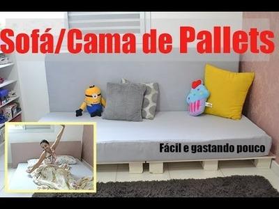 DIY: Sofá.Cama de Pallets (Gastando pouco)
