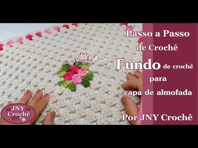 Fundo de almofada de crochê por JNY Crochê