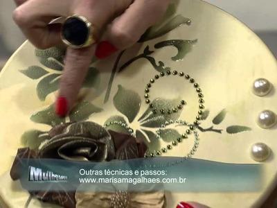 Mulher.com 30.08.2013 Marisa Magalhães - Caixa com Pintura Decorativa P 2.2