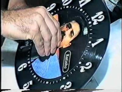 Pádua o Inventor - Relógio disco de vinil para Ratinho