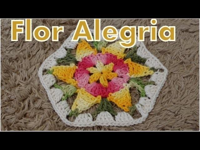 Passo a passo Flor Alegria em Crochê - Professora Simone