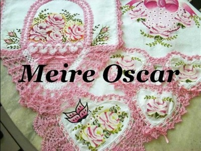 Pintura em tecidos e crochê com Meire Oscar