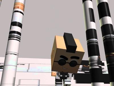 Teste de animação com papercraft do Nordan da Gaijin Sentai