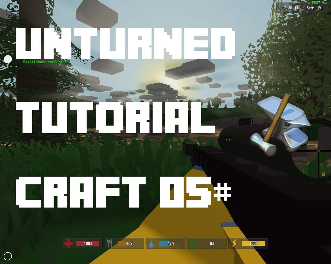 """Unturned Tutorial Crafts 05# - """"Objetos e Baús"""" ,Sleep Bag , Cofre , e mais"""