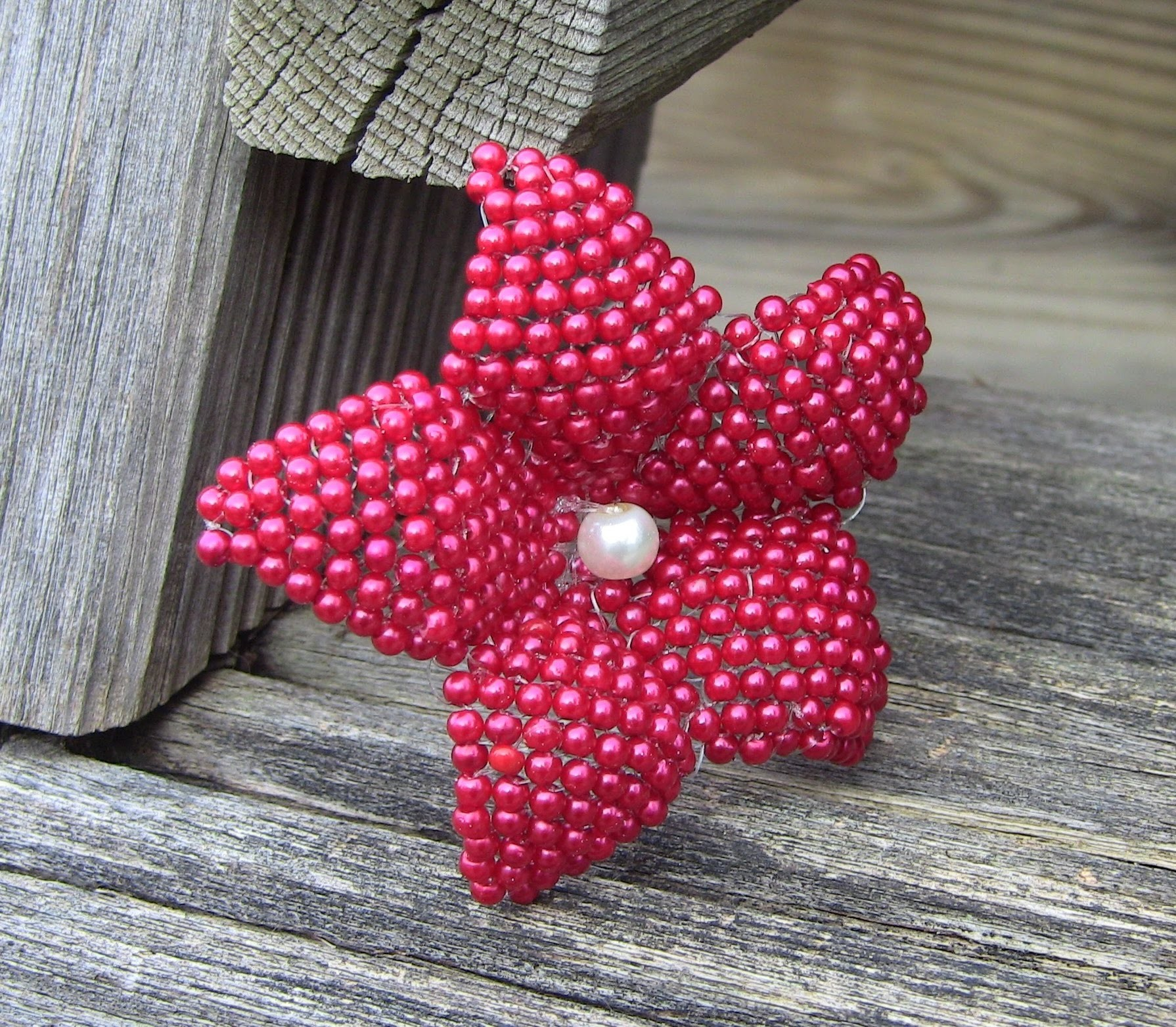 2nd PART flower in beads  -  2° Parte de Flor em miçanga para chinelos fivelas etc Passo a Passo