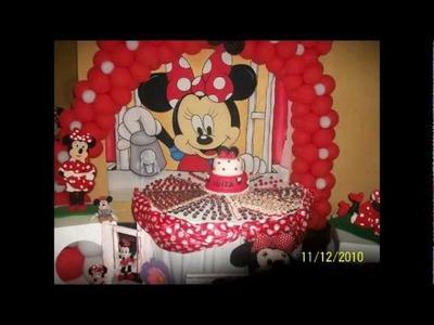 Aniversário decoração Minnie. Luíza 3 aninhos.