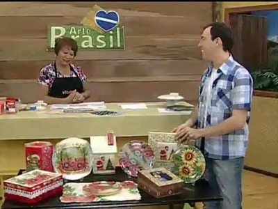ARTE BRASIL - MAMIKO YAMASHITA - DÉCOUPAGE EM PRATO TRANSPARENTE (16.11.2011)