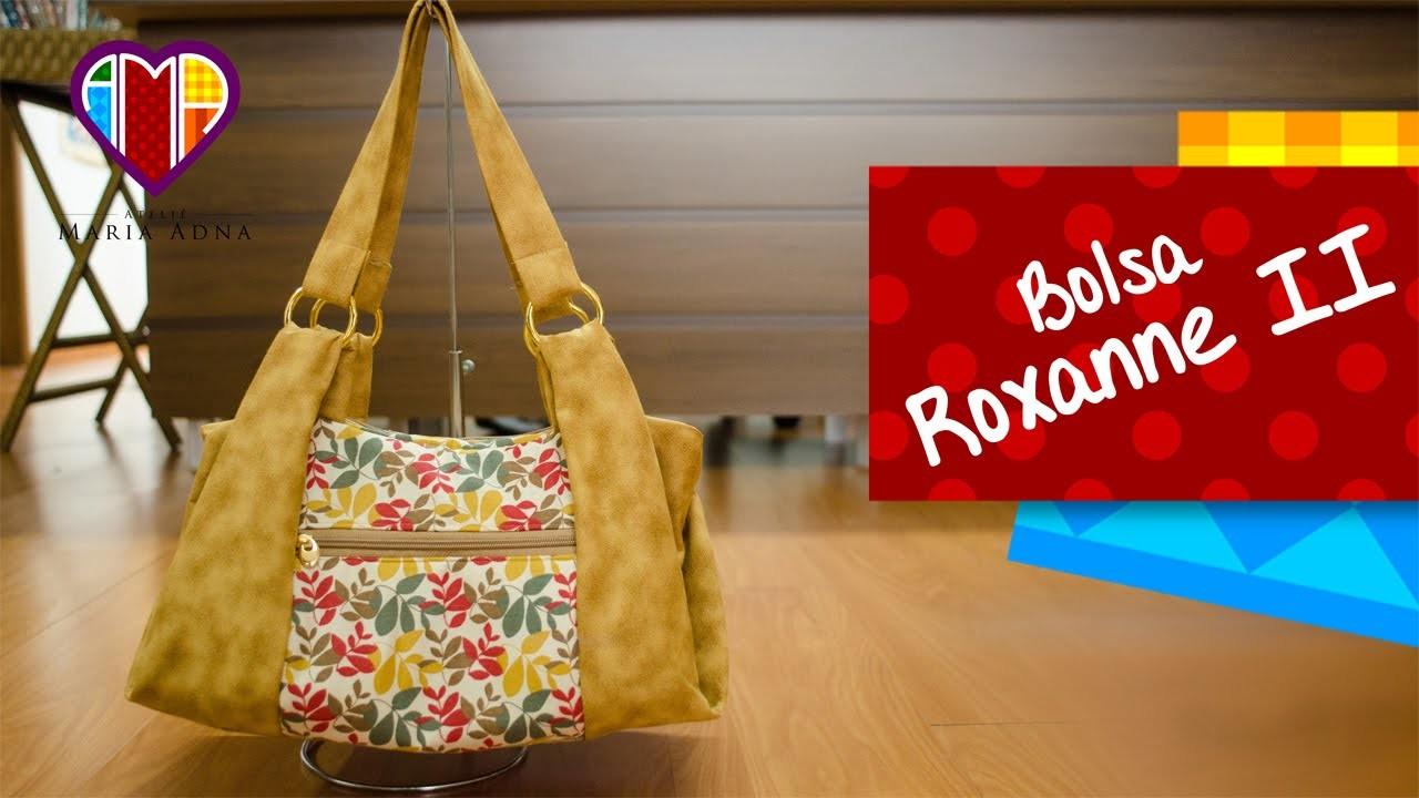 Bolsa em tecidos Roxanne II - Maria Adna Ateliê - Cursos e aulas de bolsas de tecidos