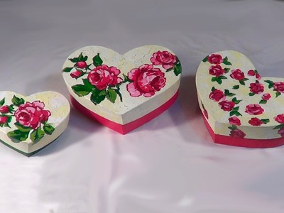 Caixa Coração - Box Heart shape (part 2) - cuadro de corazón
