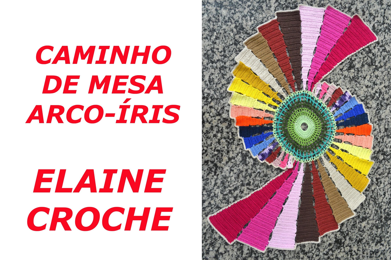 CAMINHO DE MESA ARCO-ÍRIS EM CROCHÊ