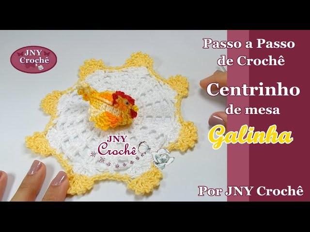 Centrinho de mesa de crochê Galinha por JNY Crochê