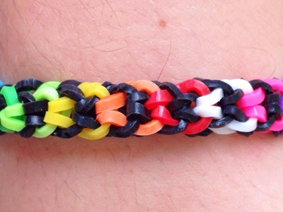 Como fazer pulseira de elástico: Fishtail Invertida #LoomBands (sem tear)