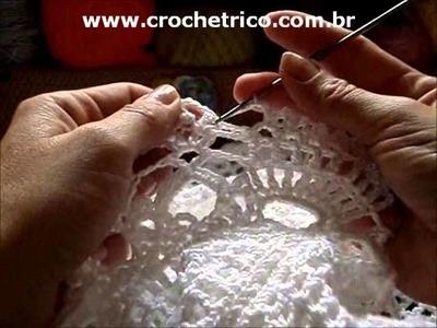 Crochê - Bolero Branco - Tam: P - Parte 07.07 (SEM SOM)