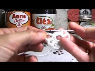 Crochê Irlandês - Ao Vivo - Parte 02 - 1º Motivo