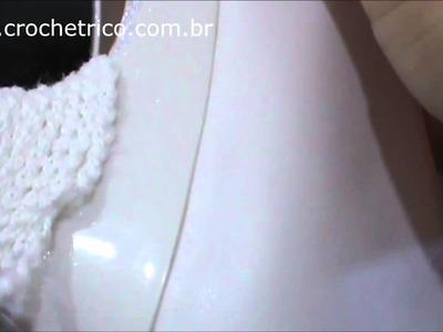 Crochê - Sapato de Noiva - 01.06