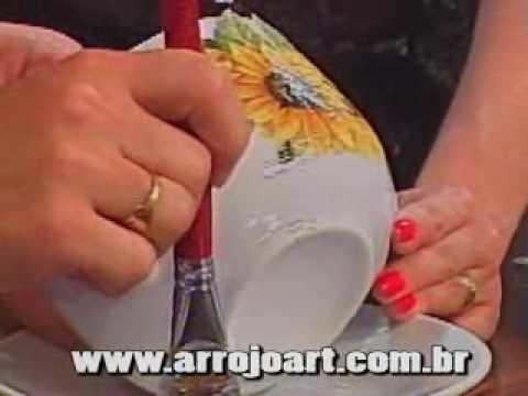 Découpage em porcelana parte I