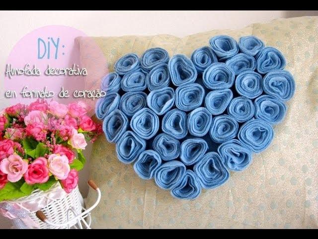 DIY: Almofada decorativa em formato de coração de flores ❤