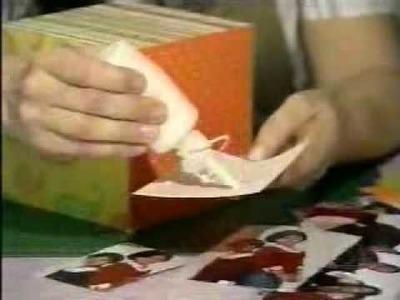 Flávia Terzi ensina a construção de cubo de fotos - Scrapbook