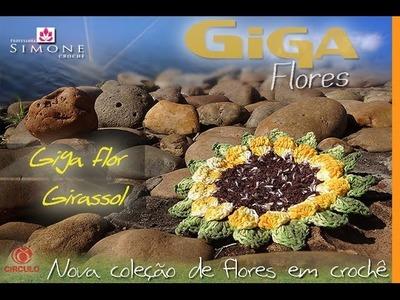Giga Flor Girassol em Crochê - Professora Simone