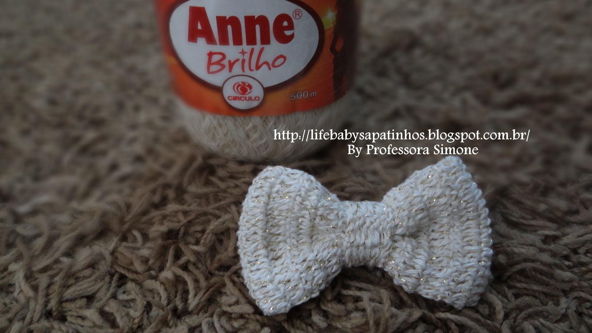 Laço de crochê Anne Brilho