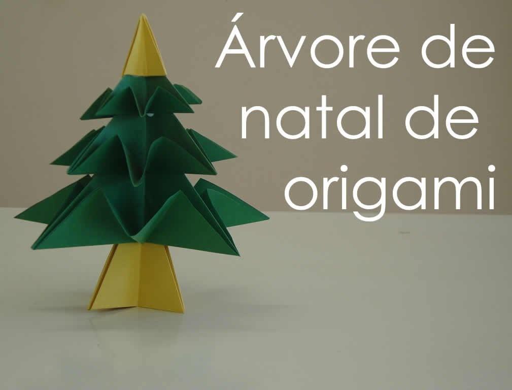 Origami: Árvore de Natal